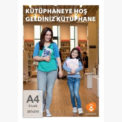 Folder A4, 3-luik - Fotostrip (Turks) - 10 ex.