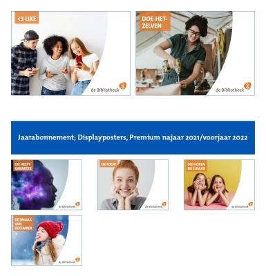 Klik hier voor Jaarabonnement; Displayposters, Premium najaar 2021